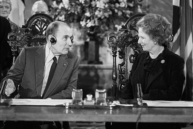 mitterand-thatcher, relationship between the French and the English