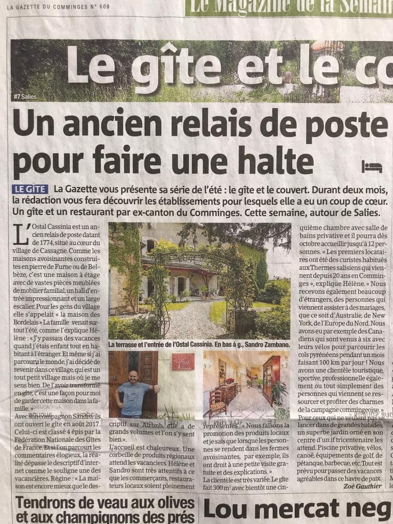 ostal cassinia gazette du comminges